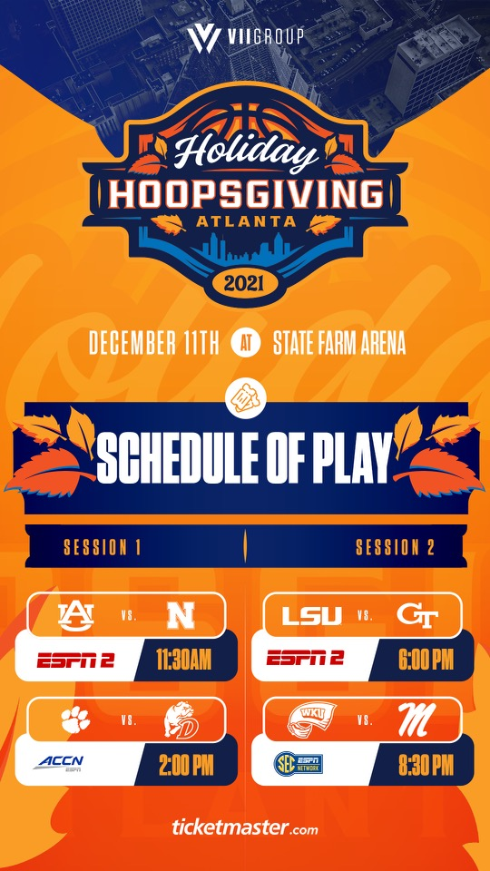 Holiday Hoopsgiving 2021 Schedule Mobile