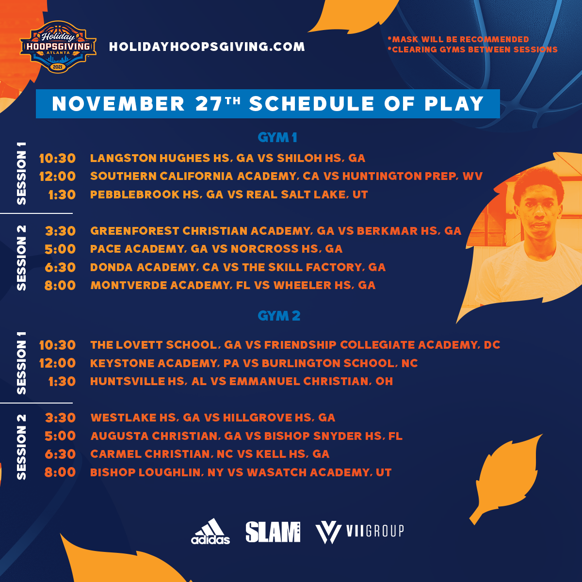 Holiday Hoopsgiving 2021 High School Day 2 Updated